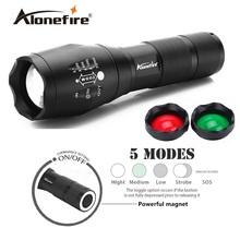AloneFire G700-N 3800LM Cree led flashlight XML T6 LED White/Green/Red Tactical flashlight Handheld Hunting Camping Lantern(China (Mainland))