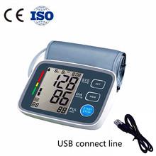 Health Care Digital LCD Arm Blood Pressure Gauge Monitor Tensiometro Tonometer Sphygmomanometer Tansiyon Aleti BP Monitor(China (Mainland))