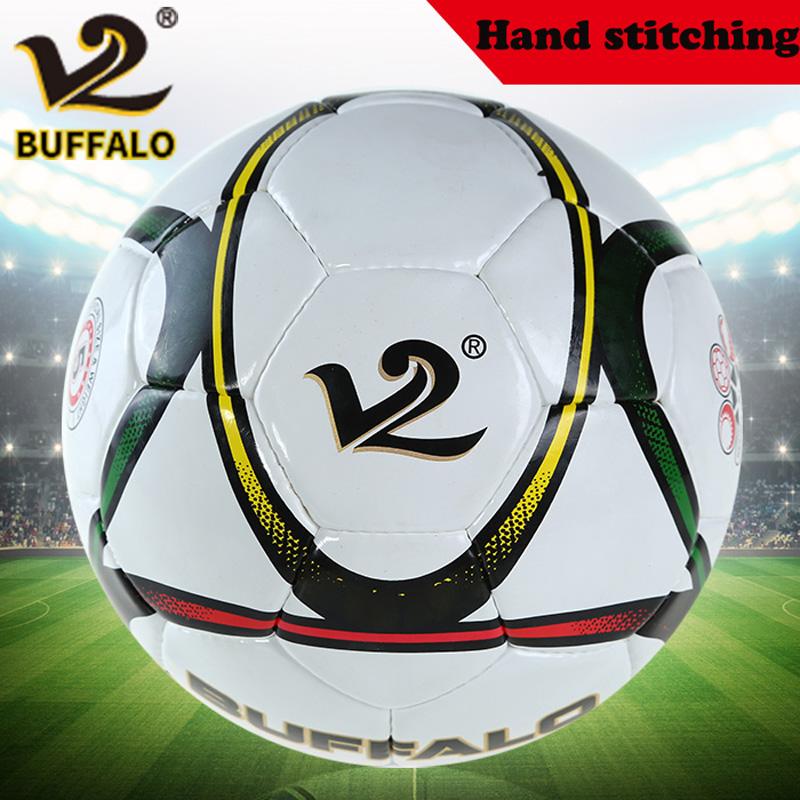 Brand New Buffalo Football Size 5# Match Soccer Ball PU Hand Stitching Football Wear-resistant PU Official Football(China (Mainland))