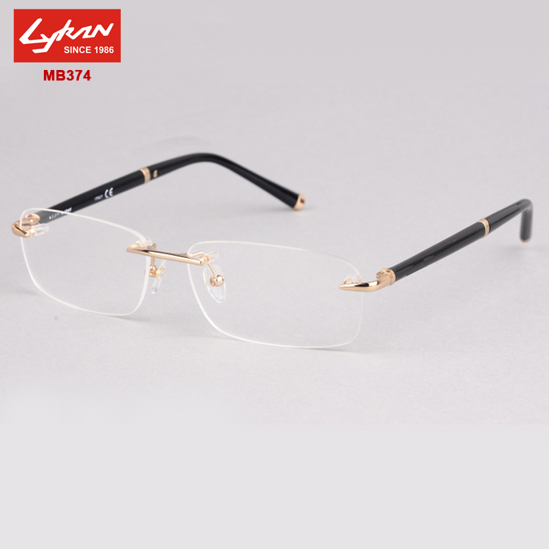 Frameless Eyeglasses Frames : New Fashion MB374 Brand rimless eyeglasses frames designer ...