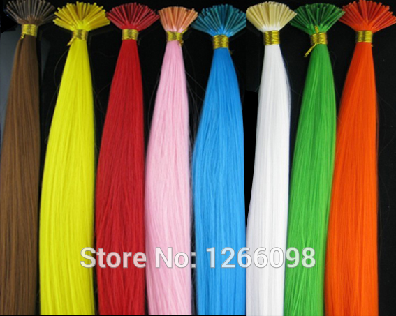 48pcs Fashion Beauty synthetic Hair Extensions 12 colors available 16 inch fake hair hairpiece with free beads and hook