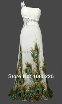 Angel-моды сексуальная одно плечо павлин тонкий ну вечеринку платье невесты зеленый