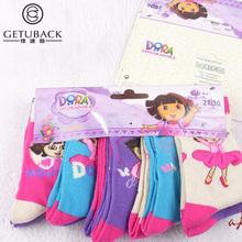 2015 New Dora girls socks 10 pairs lot baby children 95 cotton brand socks kids adult