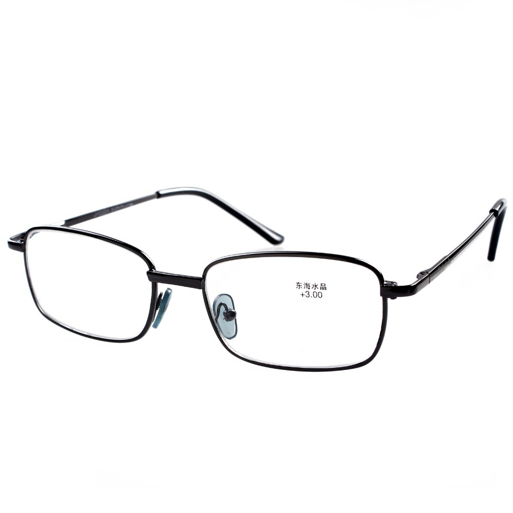 Mens Black Frame Reading Glasses : 1 Pair Mens Womens Black Metal & PV Frame Classic Reading ...