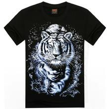 Fashion Tiger Animal Mens 3D Printed T-shirts Free Shipping S-XXL O-Neck Summer Tops Tees 2016 Summer Mens Clothes MT-14061