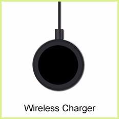 2016 Adjustable 180 Degree Rotating Qi Desktop wireless charging stand Wireless Mobile Phone Holder