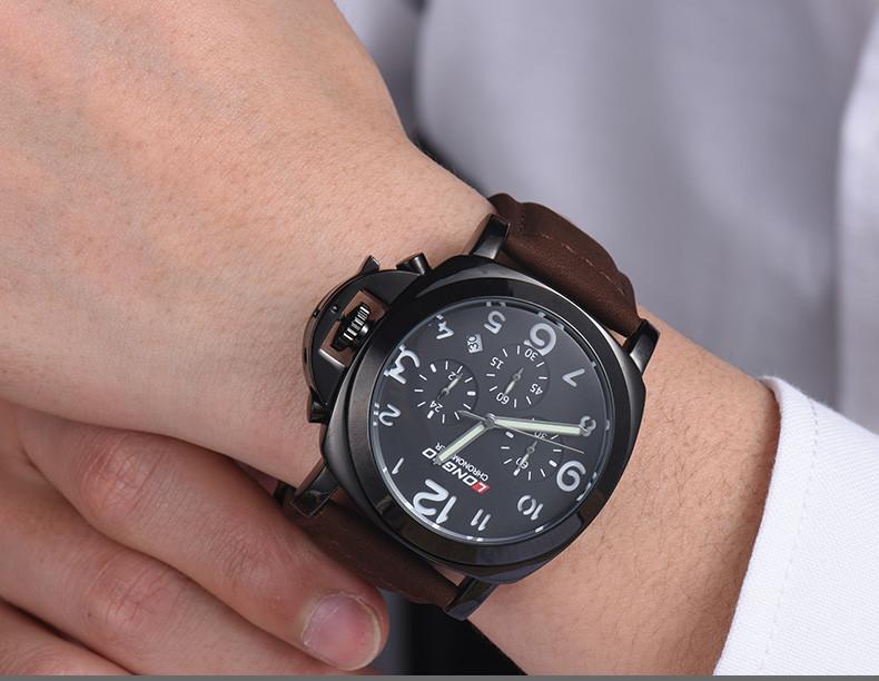 LONGBO Luxury Brand Кожа/Полный Стали 6PIN Часы Авто Дата Топ Кварцевые Часы Мужской Бизнес Часы Спортивные Мужчины Водонепроницаемый платье