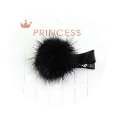 Meninas Grampos De Cabelo com Pequeno Adorável Hairball Pom Pompom Pele Macia Mini Bola Garra Hairclips Grampo de Cabelo Crianças Acessórios Para o Cabelo(China)