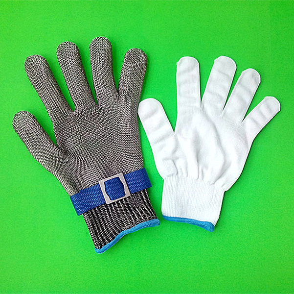 Safety glove Cut Proof Stainless Steel Metal Mesh Butcher Glove High Performance Level 5 Protection