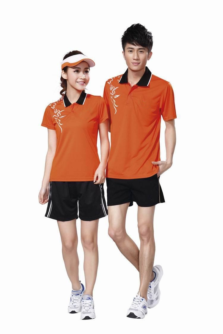 free shipping fashion new butter-fly table tennis Jerseys men/female/child short-sleeve shirt polo butterfly Family clothes 8127(China (Mainland))