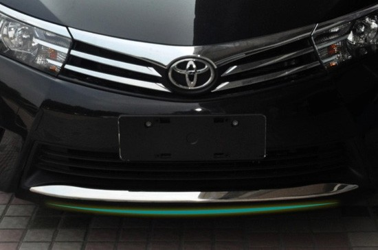 bumper leading striker coating of quality stainless steel grill environment adjustment parrillas shrink to 2014 Toyota Corolla(China (Mainland))