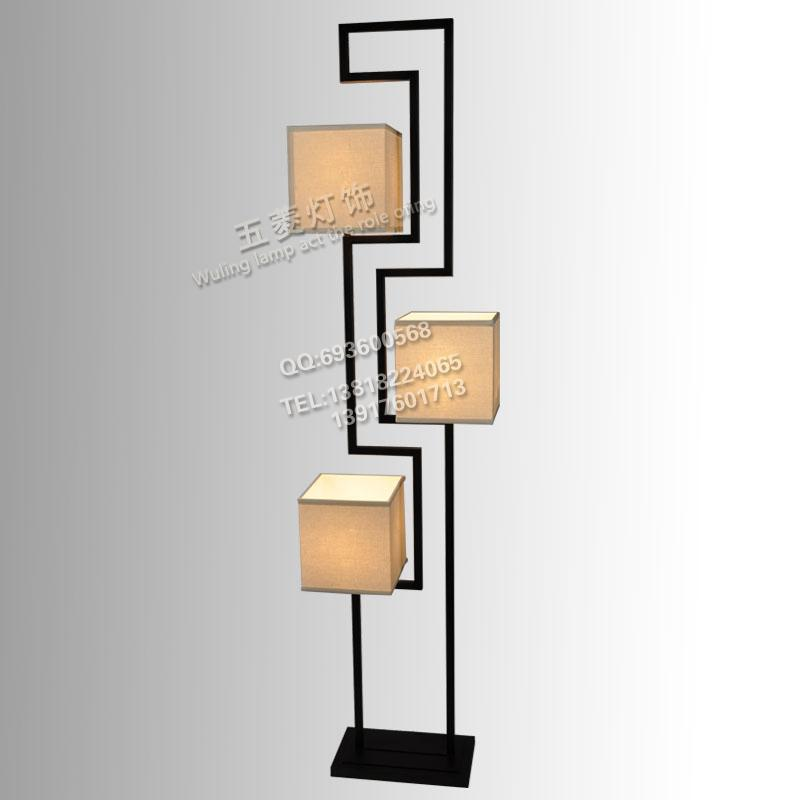 The New Chinese Modern Minimalist Living Room Floor Lamp Wrought Iron Lamps Study Club Model
