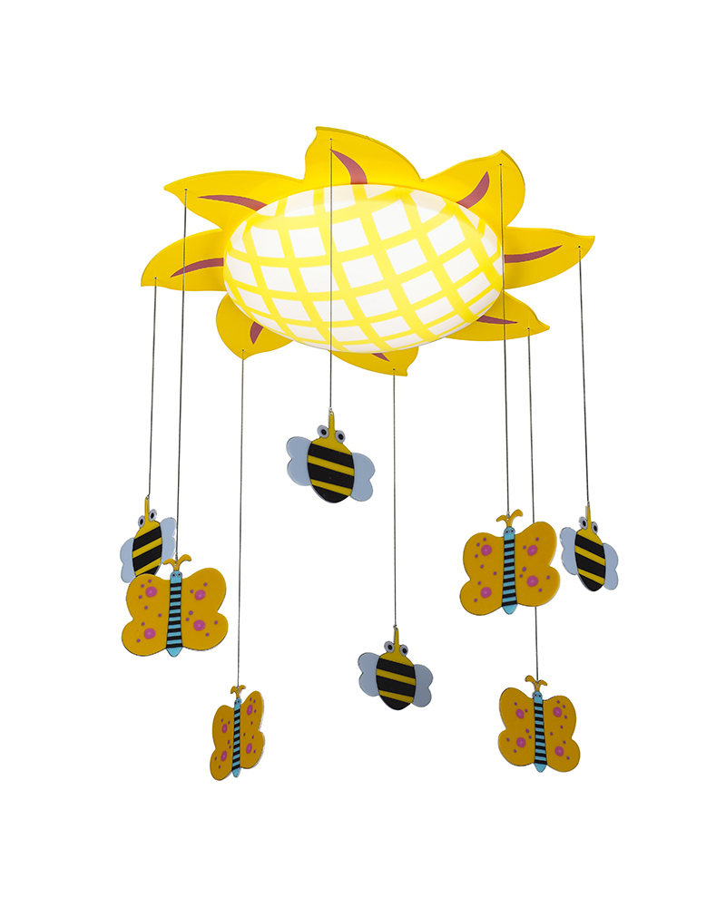 lamp slaapkamer plafond : lampen zonnebloem en bijen thema plafondlamp ...