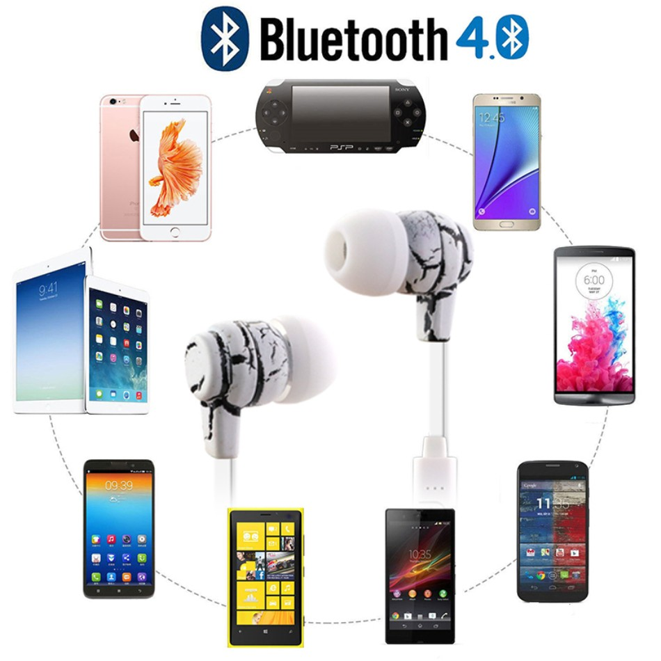 Sports Bluetooth Earphone Mini V4.0 Wireless Crack Headphone Earbuds Hand Free Headset Universal For Samsung iPhone 7 Xiaomi