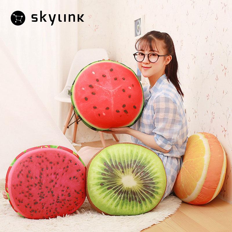 Skylink Decorative Pillows Fruit Watermelon Print Pillow Cushion Waist Pillowcase Home Office Coffeeshop Supplies Cushion Back(China (Mainland))