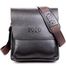 2014  new designers POLO VIDENG brand genuine leather black brown quality men's messenger shoulder handbag bags briefcase VP-1