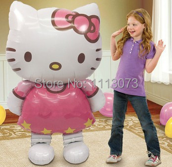 Free shipping! Hello Kitty Big Foil balloons KT Cat Wedding Party Decorate Birthday Inflatable Ball Children's Toys balao baloes(China (Mainland))