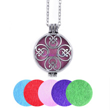 "Buy 1pc 28"" Chain Pads Vintage Silver Plated Aromatherapy Lockets Essential Oil Diffuser Locket Perfume Personalized Necklaces for $1.38 in AliExpress store"