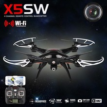 SYMA X5SW RC Drone With HD Camera 2.4G 6 Axis RC Helicopter Quadcopter WiFi Support IOS Android FPV Real Time Video