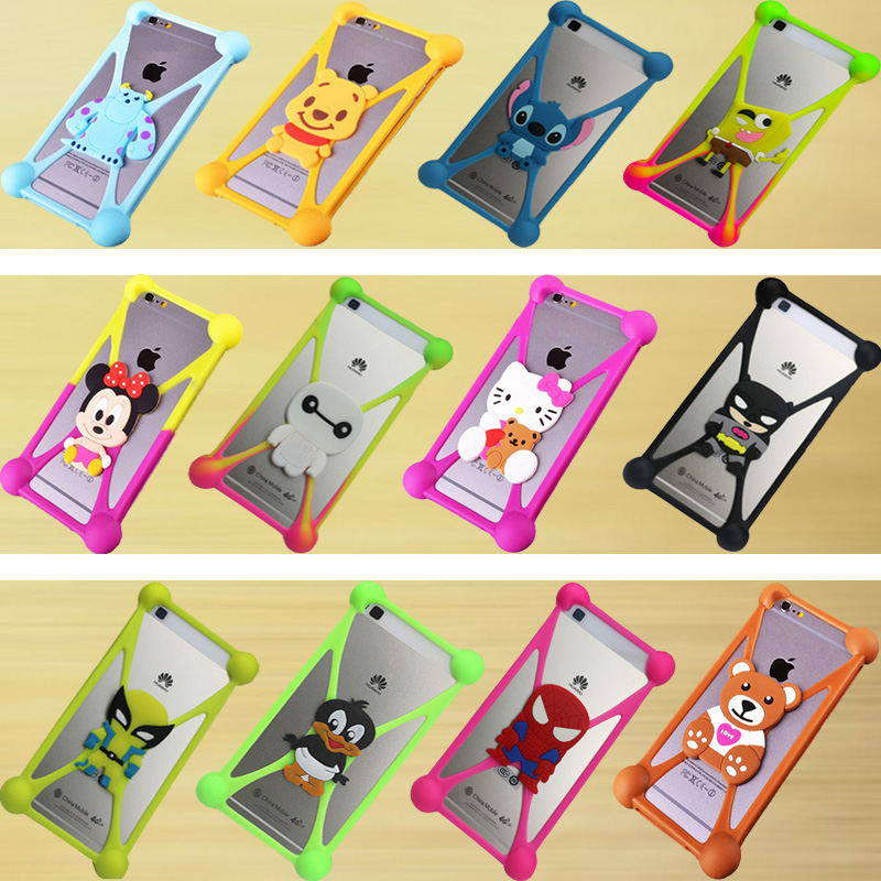 The new fashion Cute Cartoon Silicone Universal Cell Phone Holster Cases Fundas For HTC Butterfly X920E Case Silicon Coque Cover(China (Mainland))