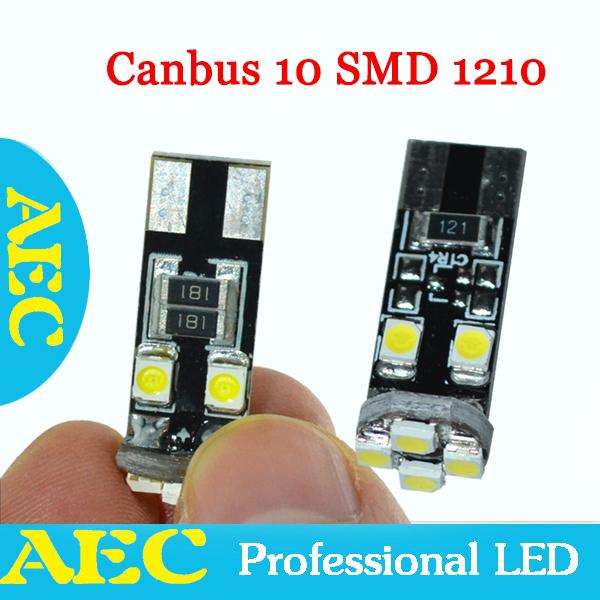100x Car Canbus T10 W5W 8 SMD 1210 3528 LED No error Auto LED 194 168 Wedge LED Light Bulb Lamp 8SMD White DC 12V(China (Mainland))