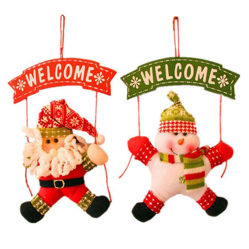 New Xmas Hanging Decor Christmas Tree Door Ornament Decor Hanging Pendant 20 X 20 cm (Doll)(China (Mainland))