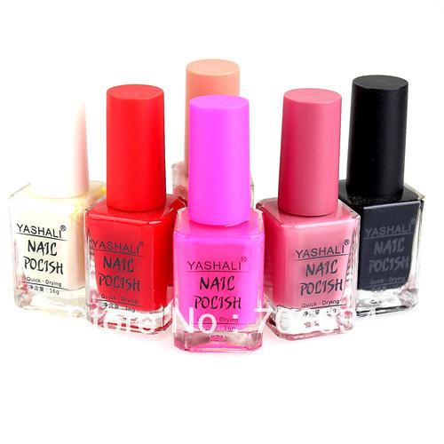 Nail Art Supplies Perfume Nail Polish 6pcs/lot 40 colors optional Quick Drying Nail Polish Nail Lacquer 16ml(China (Mainland))