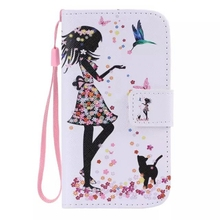 For Samsung Galaxy S3 i9300 Cat Women Bird Flip Leather Stand Wallet Case Cover With Lanyard Strap