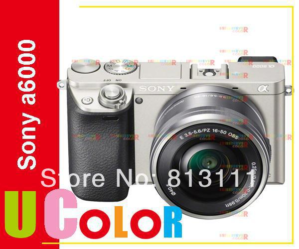 Original New Sony ILCE-6000 Alpha A6000 24.3 MP Digital Camera + 16-50mm SELP1650 Lens SILVER(Hong Kong)