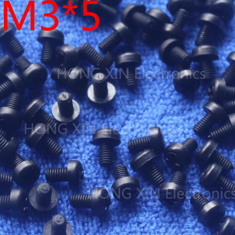 M3*5 5mm 1 pcs black Round Head nylon Screw plastic screw Insulation Screw brand new RoHS compliant PC/board DIY hobby etc