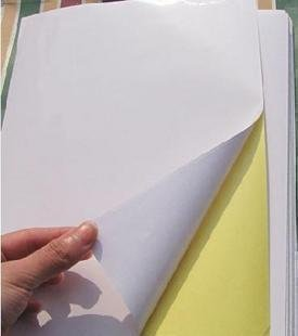 free shippint 21*29cm(A4) self adhesive paper used for inkjet printer printed label and photo paper