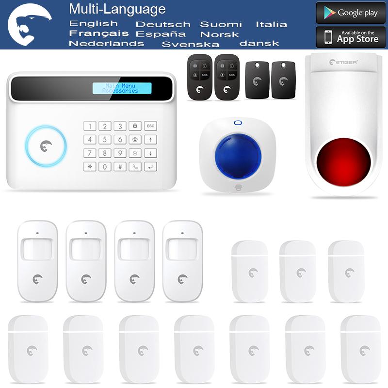Wireless & Wired eTIGER GSM/PSTN Intruder Burglar Alarm for Home/Office Outdoor Flash Siren(China (Mainland))