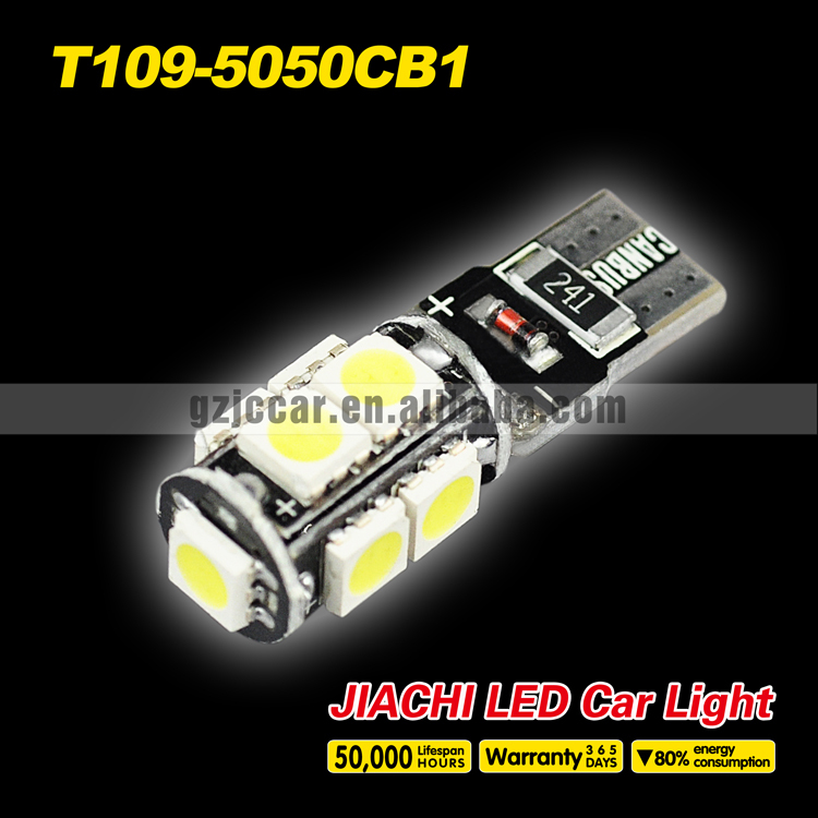 Hot sale CANBUS car accessory Auto parts bulb lamp 12v T10 5050 9W car led interior lights(China (Mainland))
