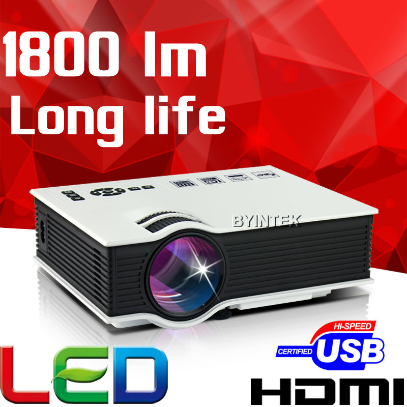 Cheap China Digital 1800lumens HDMI USB Home Theater Best HD 1080P Portable uC40 LCD LED Video Mini Projector Beamer Proyector(China (Mainland))