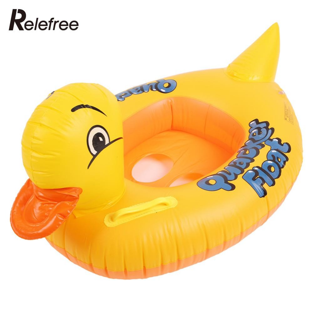 Inflatable Swimming Pool Float Baby Infant Kid Child Handle Boat Rubber Duck Thicker Pool Swim Ring Raft Inflatable Pool Toys(China (Mainland))