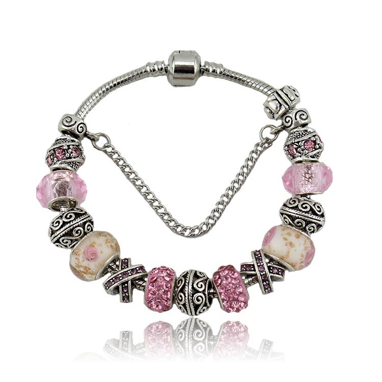 2015 браслет подвески бусины fit пандора браслет делает мода браслеты и браслеты для женщин браслеты женские бижутерия