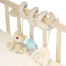 Buy Cute Bear Rabbit Infant Babyplay Activity Spiral Bed & Stroller Toy Set Hanging Bell Crib Cot Spiral Rattle Toys Baby Kids for $3.99 in AliExpress store