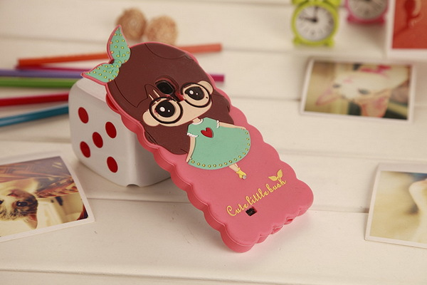 lovely female phone shell mobile phone shell meng Silicone Case for Samsung Galaxy S IV / i9500 Pink(China (Mainland))