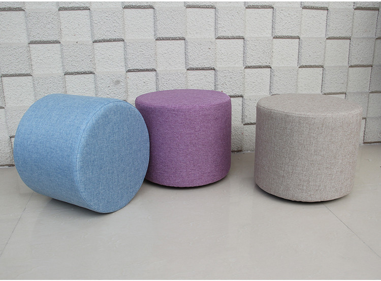 High quality comfortable creative fashion fabric small sofa stool  children shoes stool dressing table rainbow fabric stool