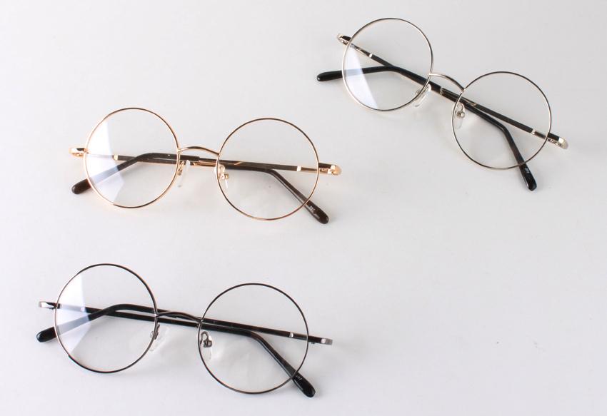 Memory-Metal-Glasses-Unisex-Retro-Round-Shape-eyeglasses ...