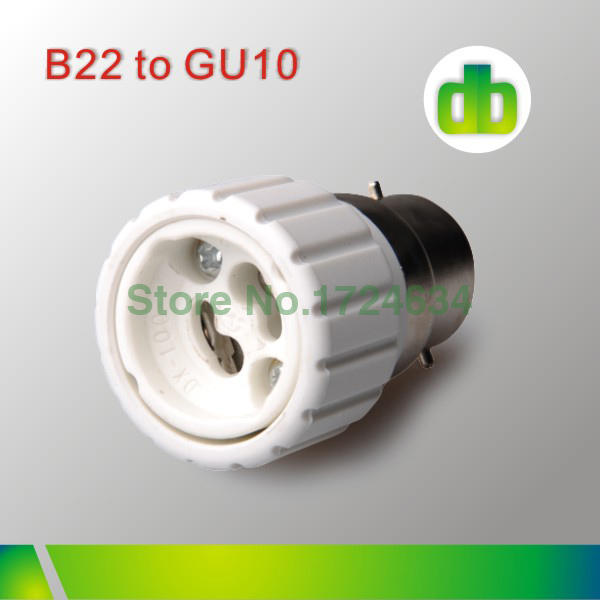 2015 hot sell 1pcs White PBT B22 a GU10 or B22 to GU10 lamp socket adapter for led lamp Bulb light made in china(China (Mainland))