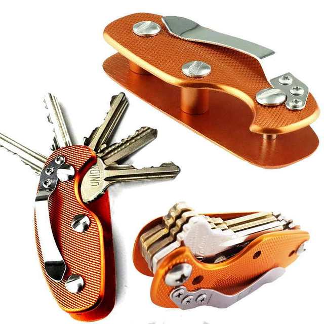 Lightweight Folding Keys Organizer Holder Pocket Aluminum Key Holdear Key Bar Free Shipping