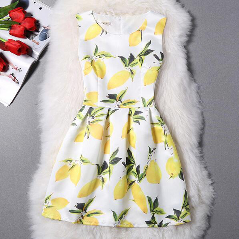 Summer Dresses For Girl Chiffon Dress Butterfly Printed Dress Sleeveless Organza Teenagers Voile Designer Dress Party 10-20Y(China (Mainland))