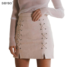 Buy Suede Leather Skirt 2017 New Autumn Winter High Waist Lace Slim Split Zipper Pencil Skirts Sexy Bodycon Vintage Mini Skirt for $13.69 in AliExpress store