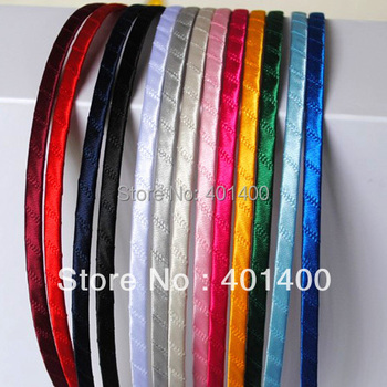 Wholesale  50pcs Satin Ribbon Wrapped Headband Hair Band DIY Hair Accessories for Women and Girls Free Shipping Many Countries