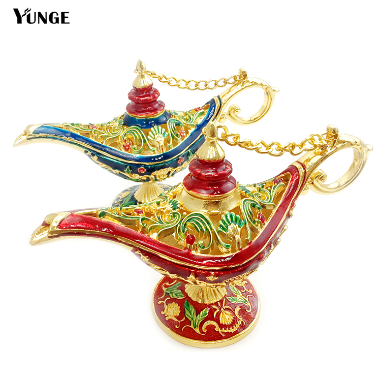 Factory Price Decor Colorful Aladin Magic Lamp Home Decoration Collectible Easter Genie Lamp Souvenirs And Gifts(China (Mainland))