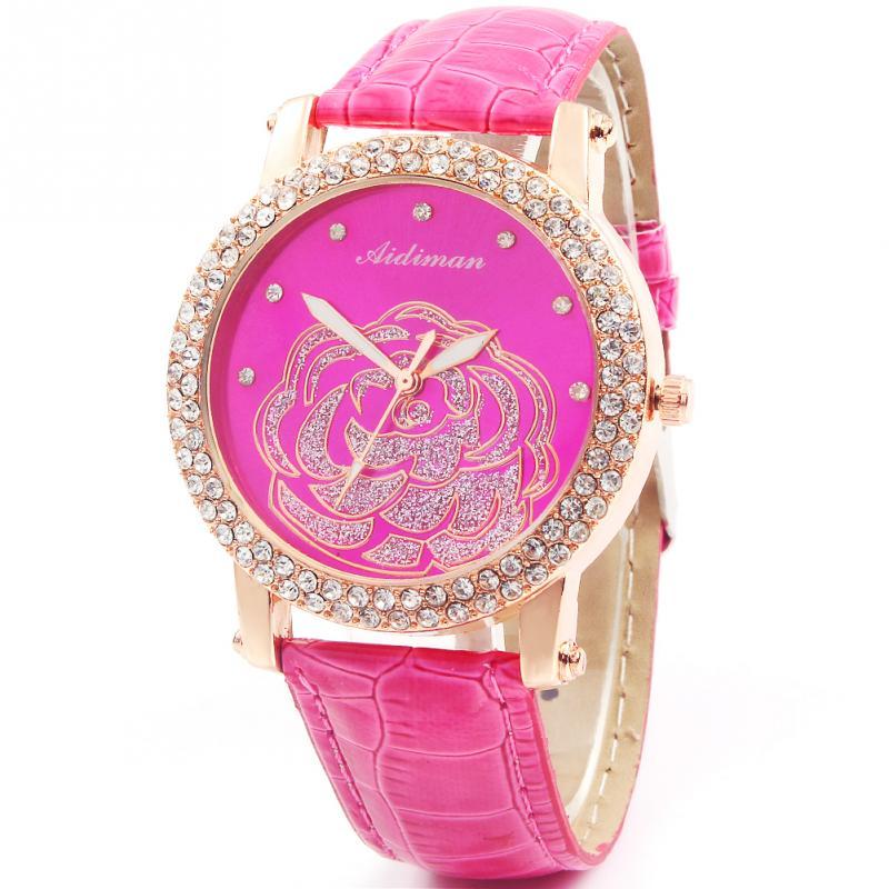 Diamond Jewelry Quartz Watch Relogio Feminino Dial Round Wristwatch Hot Sales Free Shipping Four Colors In Store(China (Mainland))
