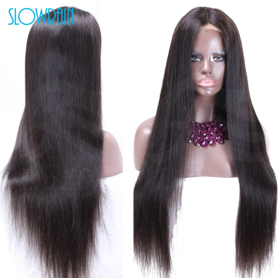 New Brazilian Silk Top Full Lace Human Hair Wigs Natrual ColorLace Front Wigs Long Straight Silk Top Wigs For Fashion Women