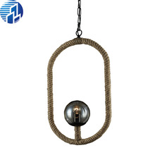 Retro Art Deco Rope Pendant Lights Loft Vintage Lamp Restaurant Bedroom Diningroom Pendant Lamp Hand Knitted Hemp Rope Light(China (Mainland))