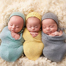 Newborn Photography Props Infant Costume Outfit Cotton Soft Photo Wrap Matching Headband New Baby Photo Props Design(China (Mainland))